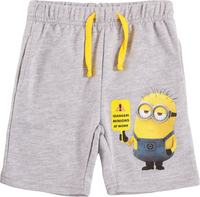 Despicable me, Shorts, Melange grey