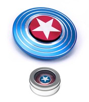 Fidget Spinner, Shield Blue