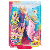 Snorkel Fun Friends Lead Doll, Dolphin Magic, Barbie